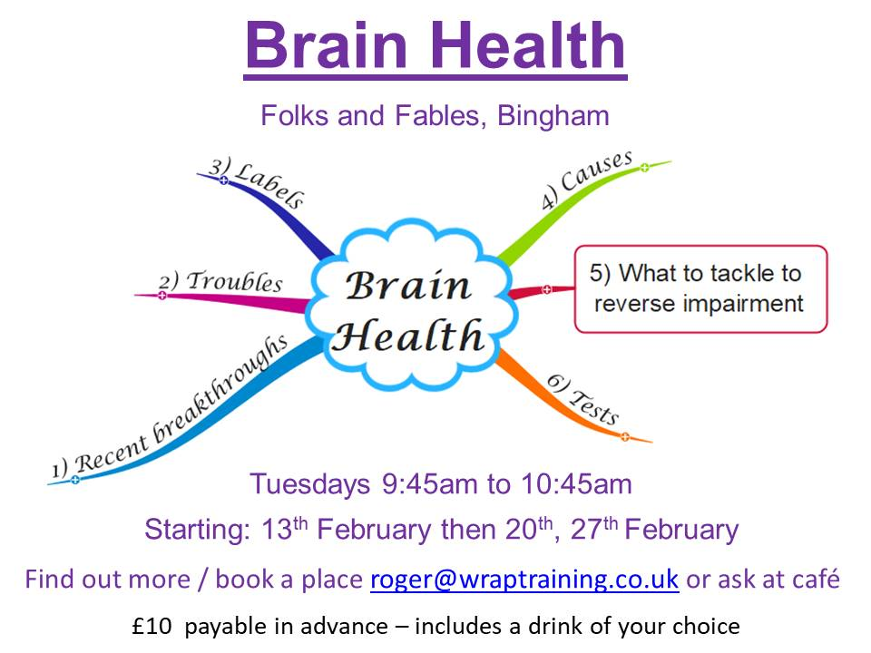 Brain Health - Feb 2018 at Folks and Fables