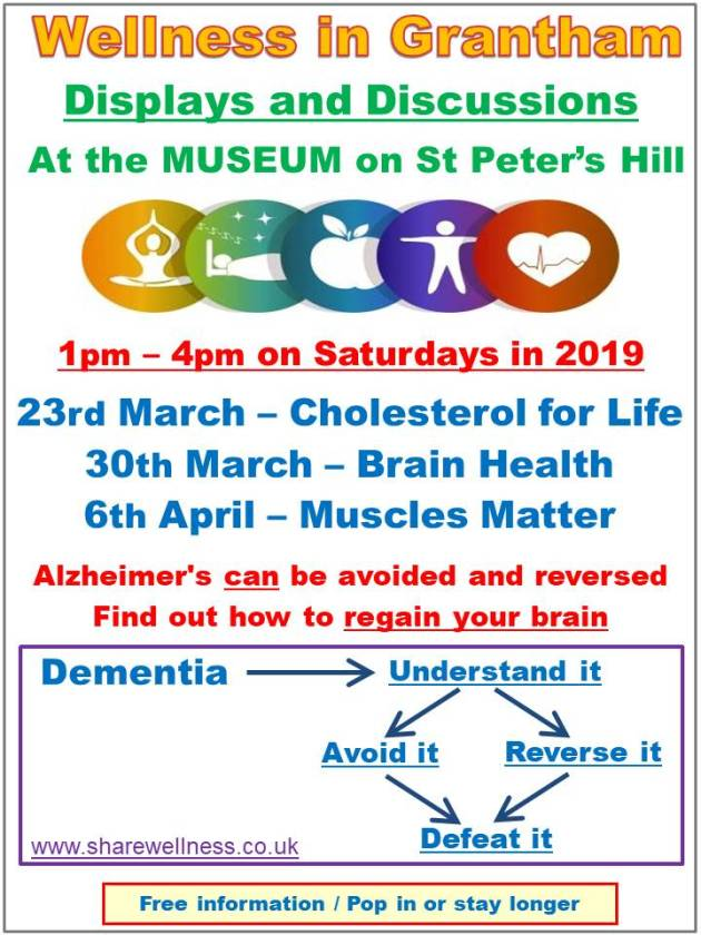 Wellness at Grantham Museum 23rd March to 6th April 2019 - Roger Smith - sharewellness.co.uk